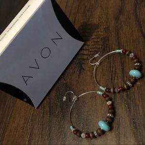 Turquoise Hoop Earrings Avon